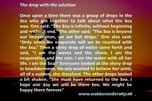 The drop with the solution